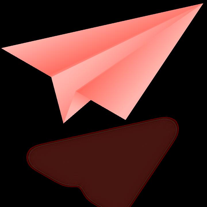 Illustration d'un avion en papier.