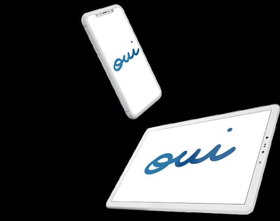 Image d'un smartphone et une tablette.