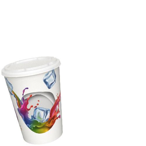 Image d'un gobelet en carton avec son couvercle.