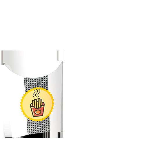 Image d'une boite de frites vide.