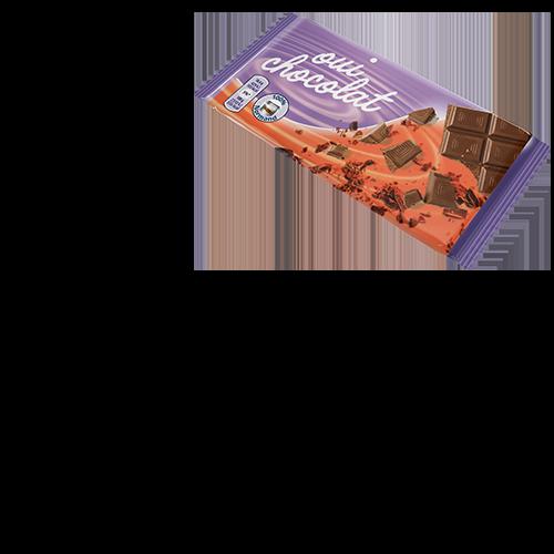 Image d'un emballage de barre au chocolat.